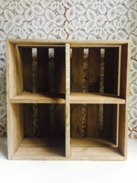 Vintage Wooden Box With Compartments