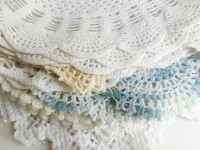 Stack of Large Vintage Doilies