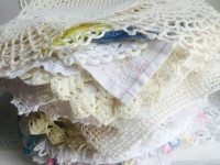 Stack of Vintage Medium Doilies