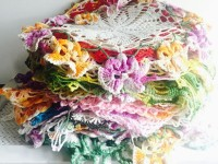 Vintage Colored Doilies