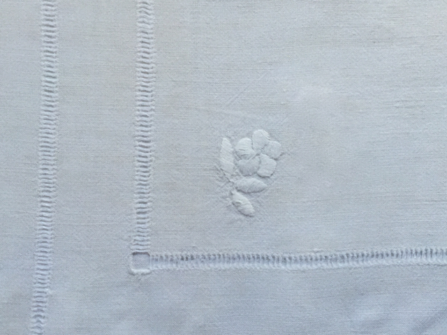 Cotton - Cream Embroidered Tablecloth