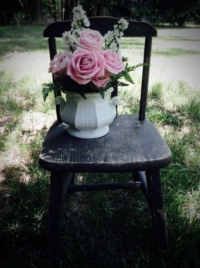 Child's Chair with Bouquet