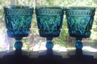 Vintage Teal Goblets