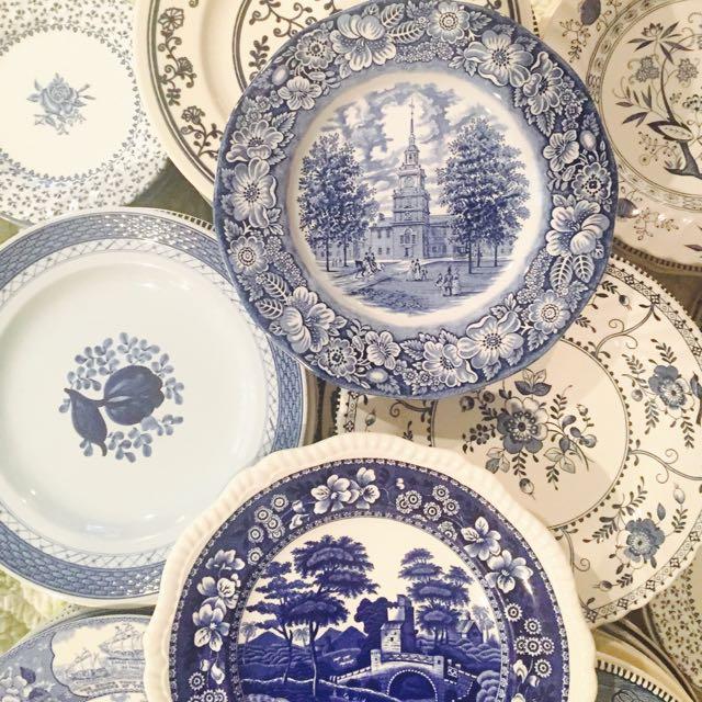 Vintage Blue & White China Patterns