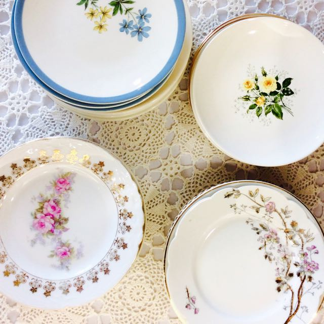 Southern Vintage Table Vintage China Rental NC. Dessert Plates-200+ & Vintage China u2013 Southern Vintage Table