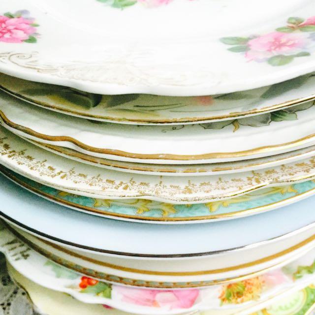 Southern Vintage Table Vintage China Rental NC. Salad Plates-250+ & Vintage China u2013 Southern Vintage Table