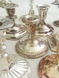 Vintage Silverplate Candle Holders