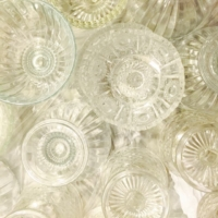 Serving Size Vintage Clear Glass Compotes