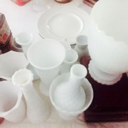 Assorted Vintage Milk Glass