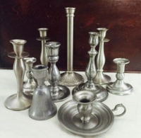 Vintage Pewter Candle Holders