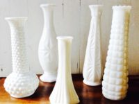 Vintage Milk Glass Bud Vases