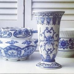 Vintage Blue & White Vases