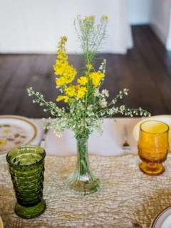 Vintage Clear Bud Vase