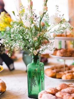 Vintage Green Bottle Vase