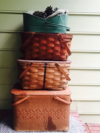 Vintage Basket Tower