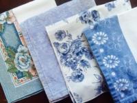 Blue Patterned Napkins