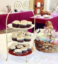Vintage Tiered Stand with Cupcakes