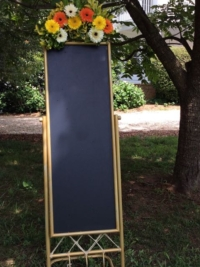 Gold Floor Blackboard