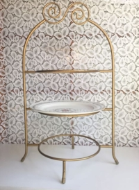 Vintage Gold Tiered Stand