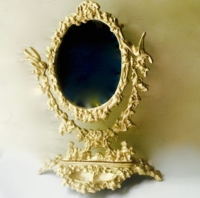 Vintage Gold Tabletop Mirror