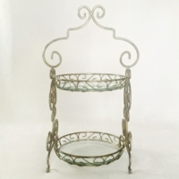 Vintage Gold Two Tiered Stand