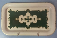 Vintage Green Design Metal Tray