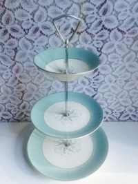 Vintage Teal Tiered Stand