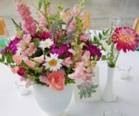 Vintage Milk Glass Center Pieces