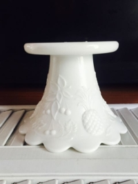 Vintage Milk Glass Pedestal