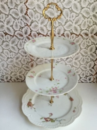 Vintage Mixed Tiered Stand