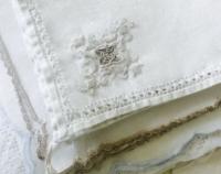 Stack of Vintage Embroidered Tea Napkins