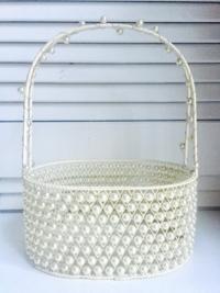 Vintage Pearl Basket