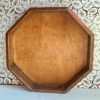 Vintage Octagonal Wooden Tray