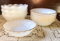 Vintage Milk Glass Bowls