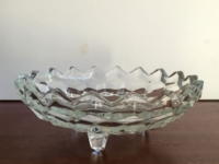 Vintage Small Toed Glass Dish