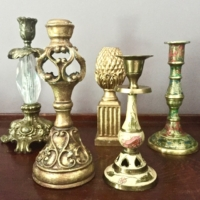 Assorted Vintage Candle Holders