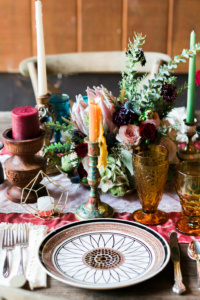Vintage Boho Designed Tablescape