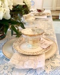 Vintage Hankies with Teacups