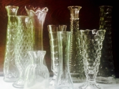 Vintage Clear Vases and Bottles