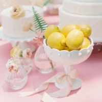 Milk Glass Compote with Lemons