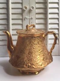 Vintage Weeping Gold Teapot