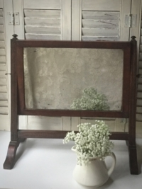 Vintage Tabletop Wooden Mirror