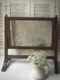 Vintage Tabletop Wooden Mirror