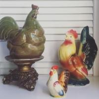 Vintage Ceramic Roosters