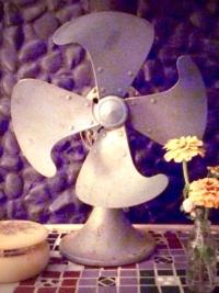 Vintage Teal Fan