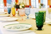Vintage Colored Goblets Place Settings