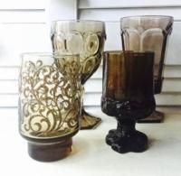 Vintage Brown Goblets