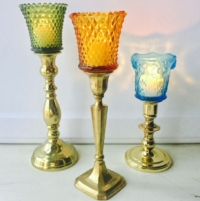 Vintage Colored Peg Holders