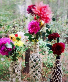 Macrame Bottle Vases