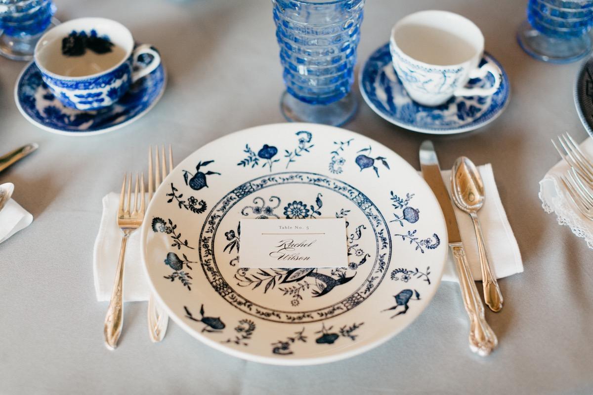Blue Vintage China Rental – Southern Vintage Table